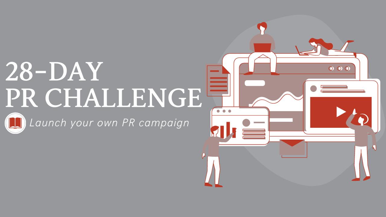 YBB 28-Day PR Challenge Banner
